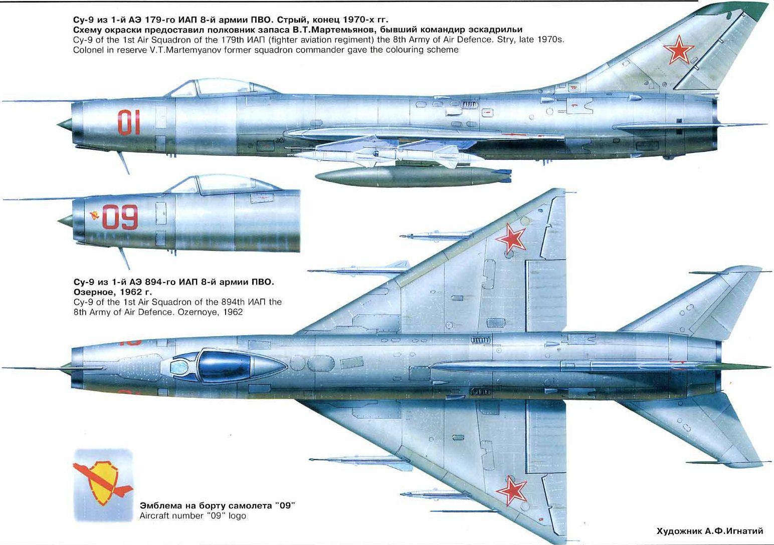 Схема окраски Су-9