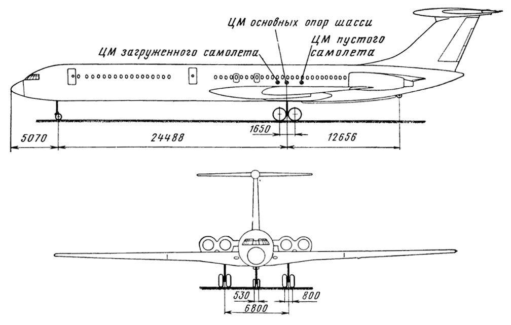 Схема самолета Ил-62