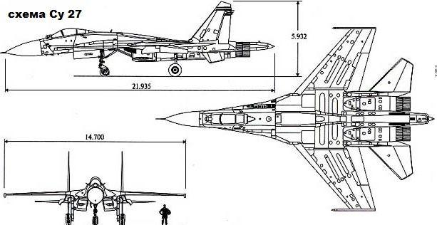 Схема Су-27
