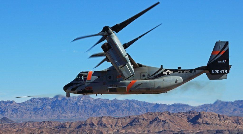 V-22 Osprey выпускает ракету