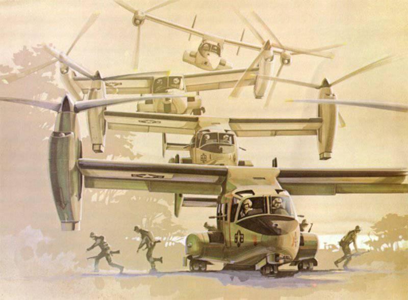 Высадка десанта с V-22 Osprey