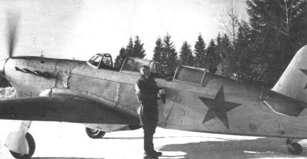 ЯК-7 с летчиком