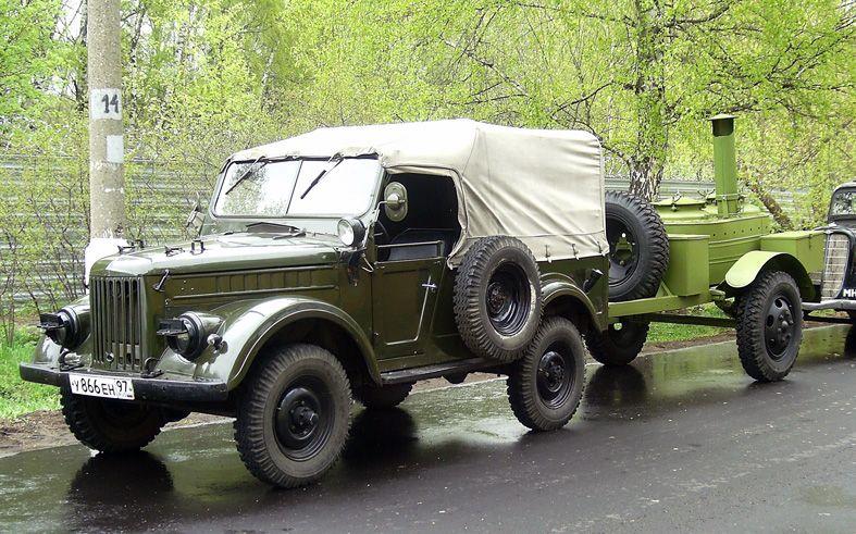 ГАЗ-69 с прицепом