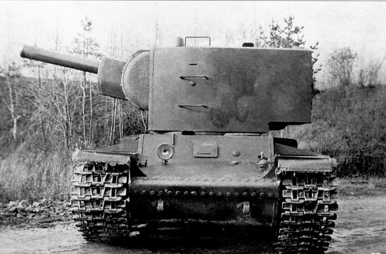 КВ-2 с повернутой башней