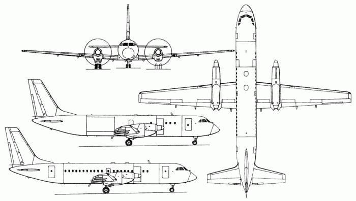 Схема самолета Ил-114