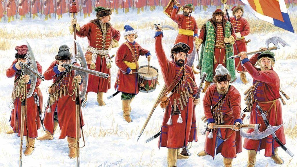 Солдаты с бердышами