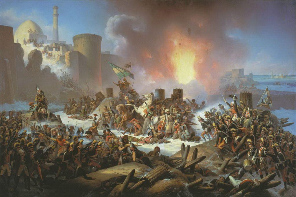 Взрыв крепостной стены