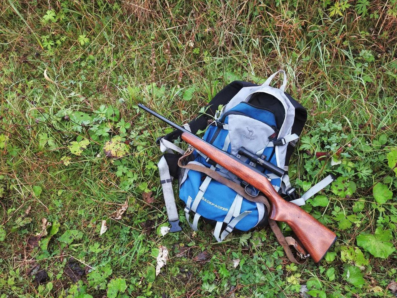 CZ-452 и рюкзак
