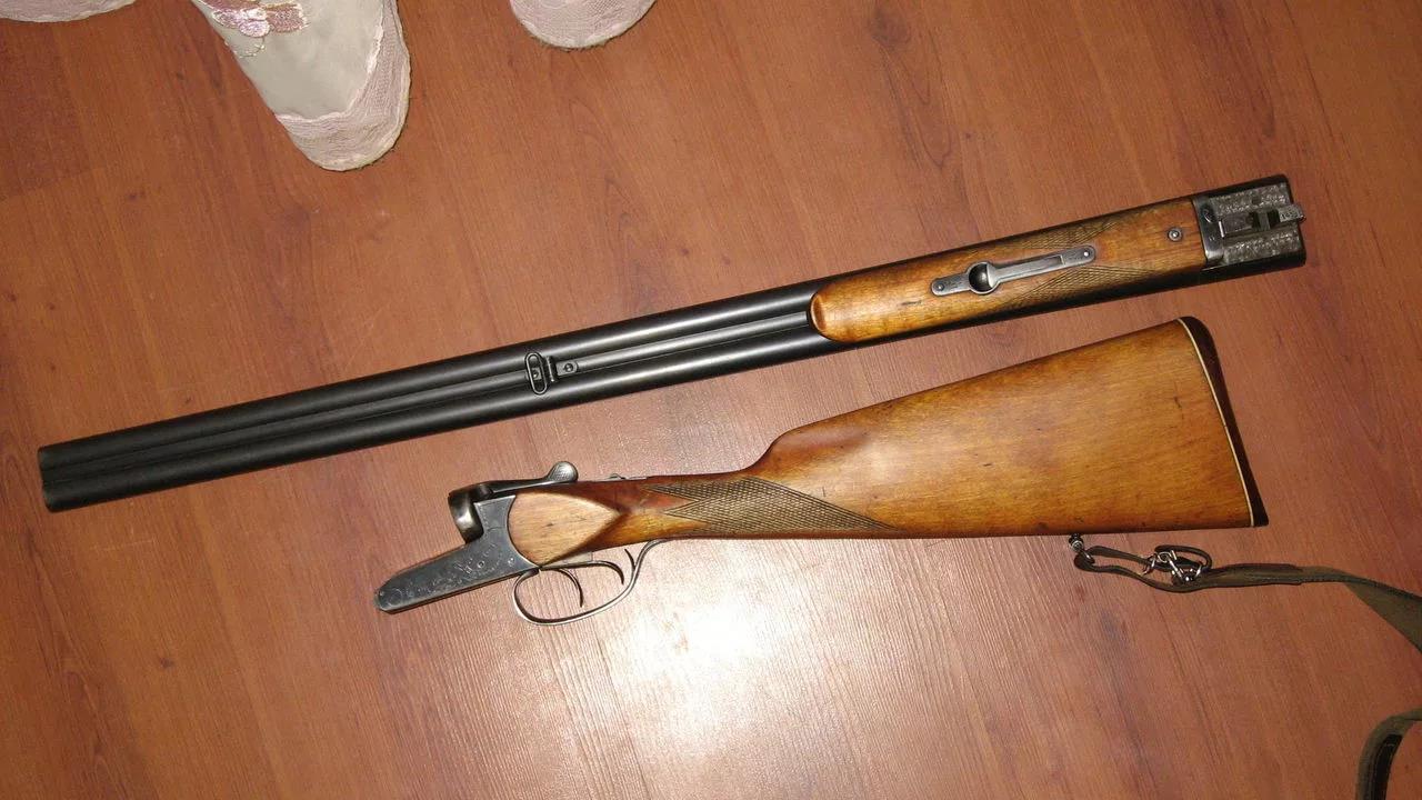 ИЖ-58 со снятыми стволами