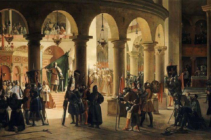 Король Готфрид принимает рыцарей