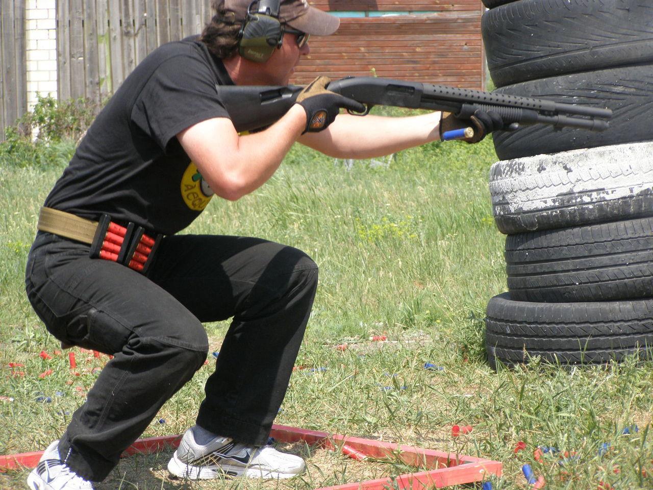 Стрельба из Mossberg 590
