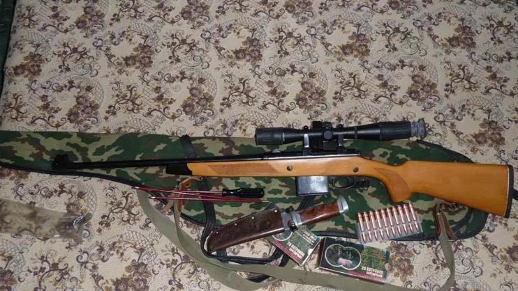 ТОЗ-122, патроны, нож