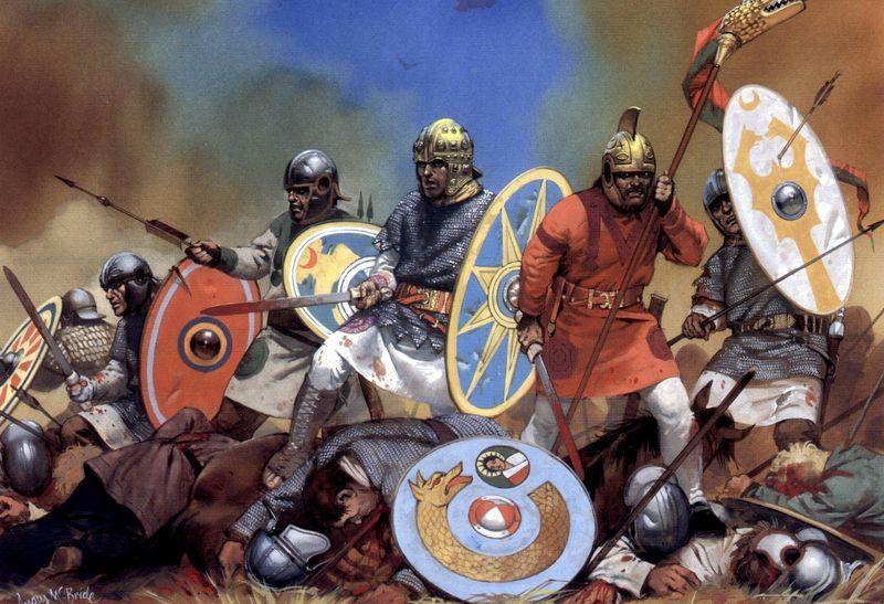 Варвары в бою