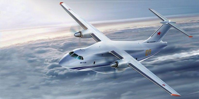 Ил-112В над облаками