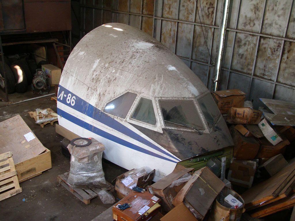 Ил-86 в металлоломе