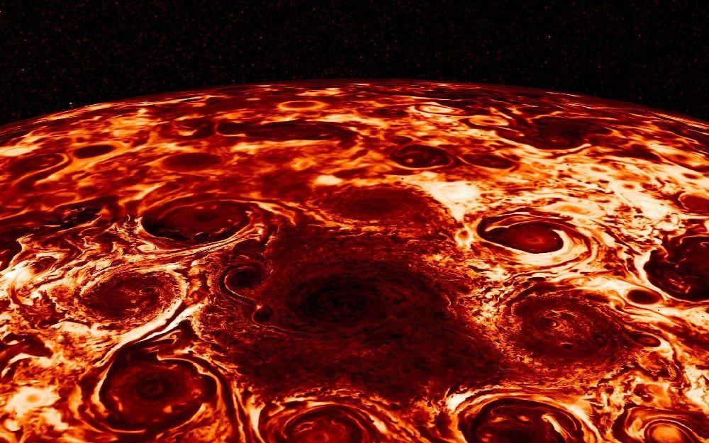 Инфракрасный снимок Юпитера