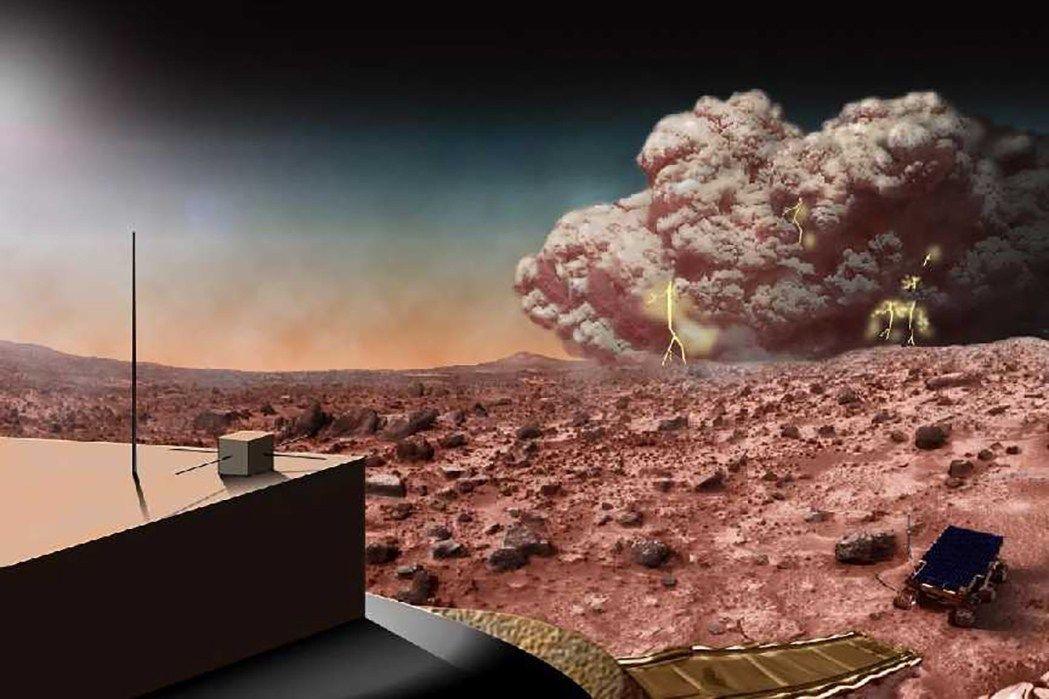 Пылевая буря на Марсе