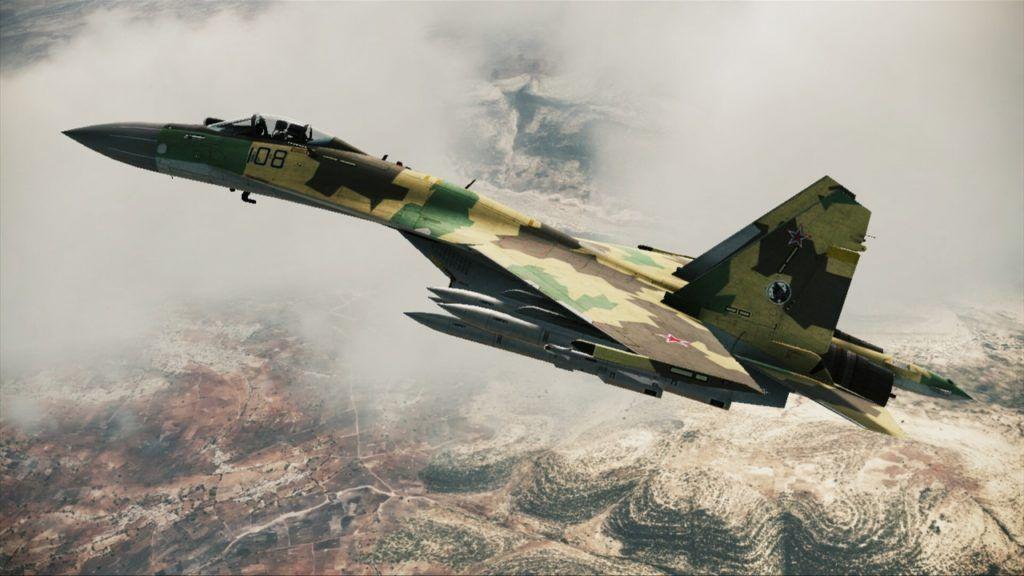Су-35 над землей