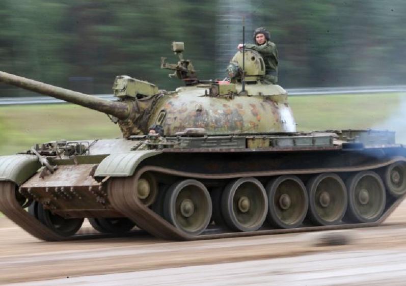 Т-54 с экипажем