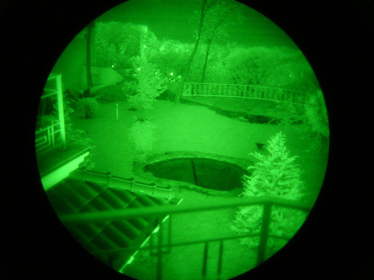 Вид в ночной бинокль