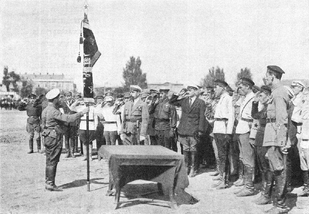 Вручение полку боевого знамя