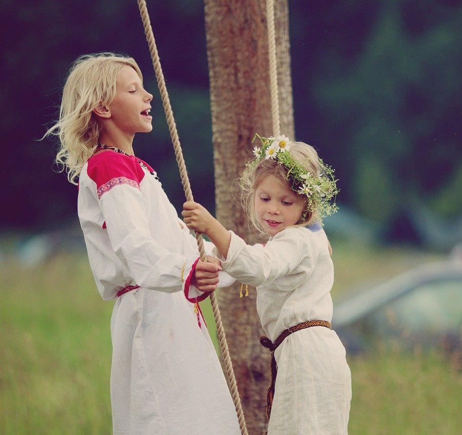 Детская славянская одежда
