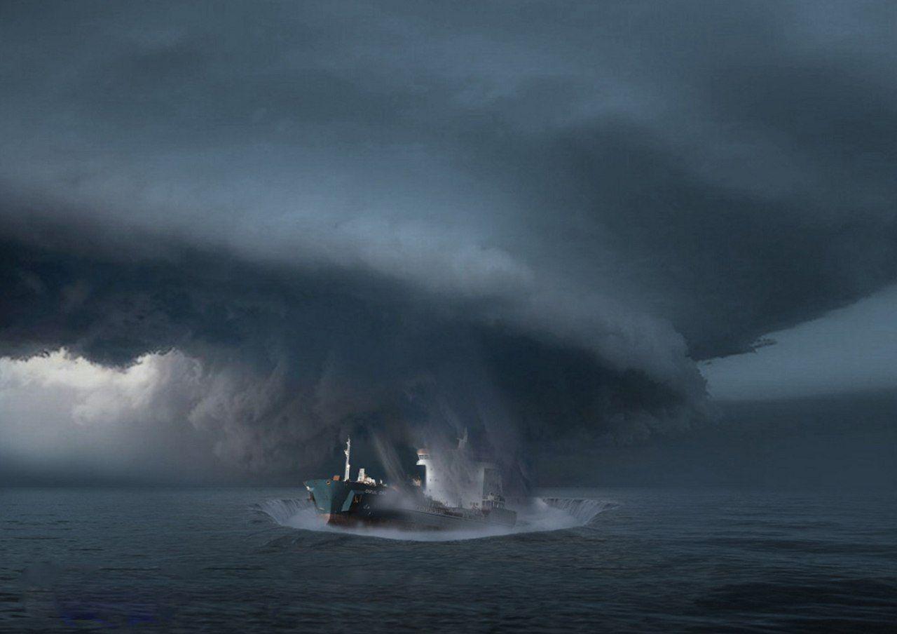 Гибель корабля во время шторма