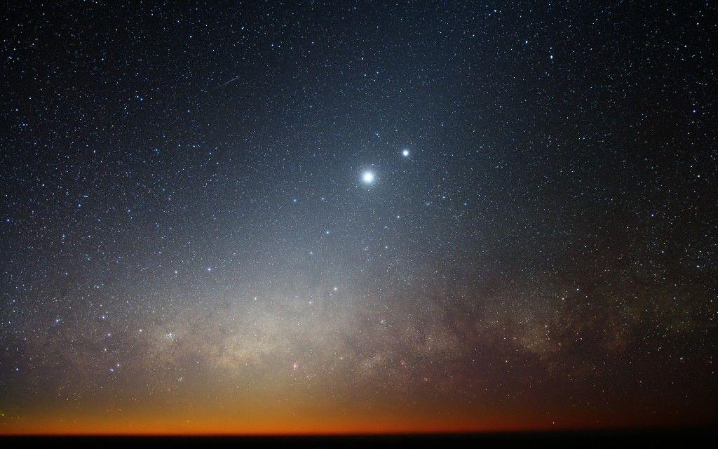 Венера в компании с Юпитером