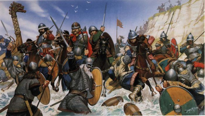 Викинги высаживаются на берег