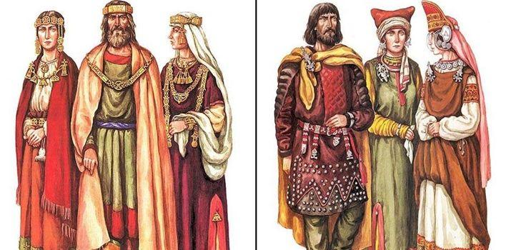 Древний славянский костюм