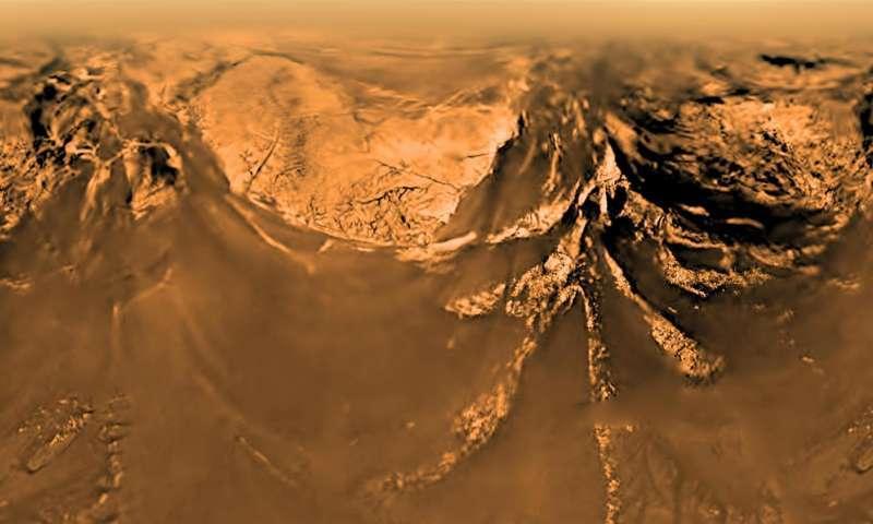 """Фото Титана с борта """"Гюйгенса"""""""