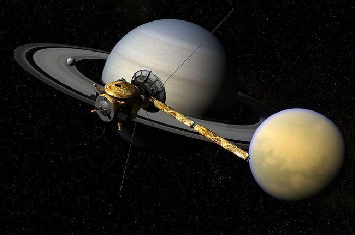 """Кассини"" на орбите Сатурна"