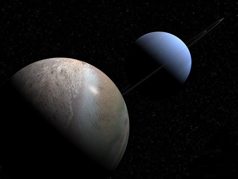 Положение Урана и Нептуна