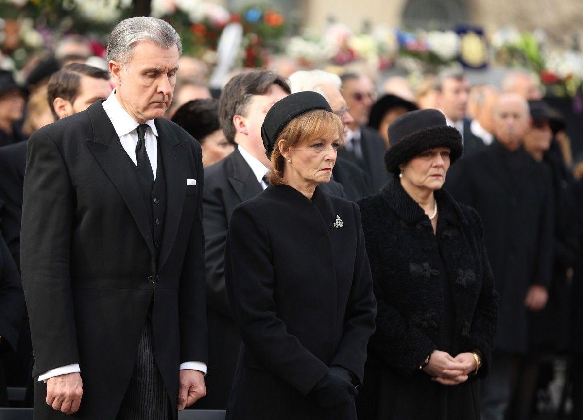 Президент Румынии на похоронах последнего короля Румынии