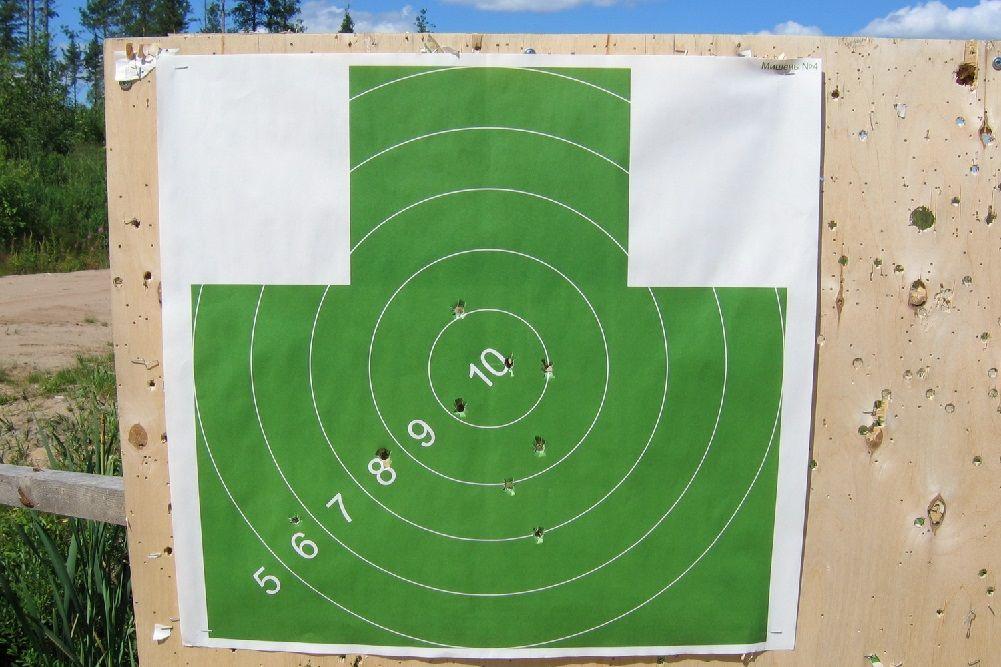 Результат стрельбы картечью