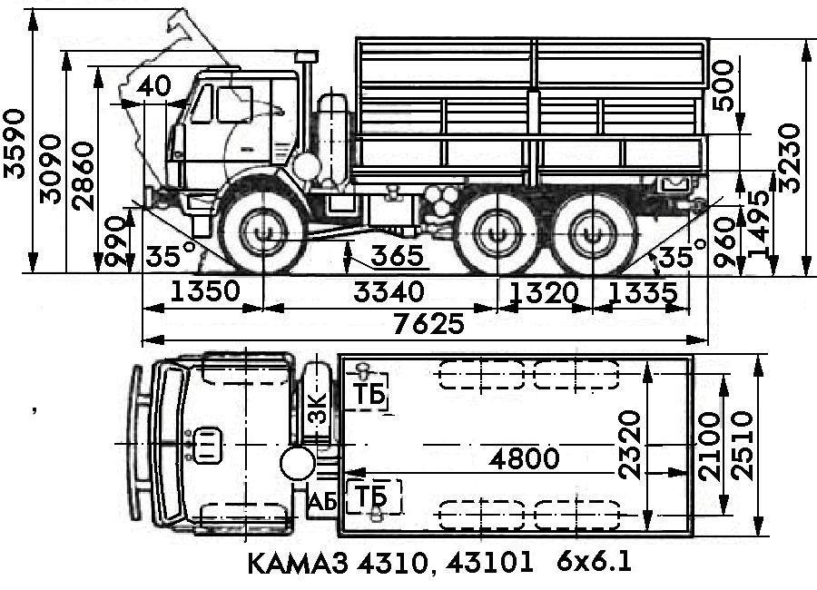 Схема КамАЗ 4310