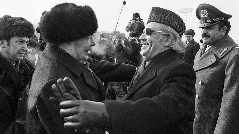 Мухаммед Дауд на встрече с Брежневым