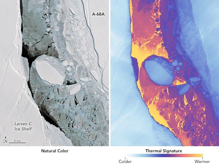 Гигантский айсберг из космоса