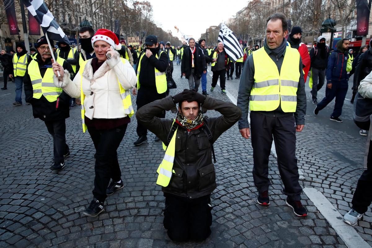 Протестующие на улицах