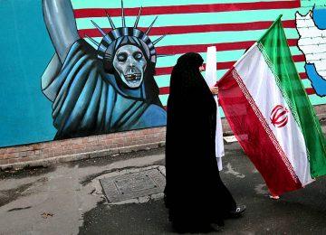 Граффити и флаг Ирана
