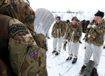 Британские солдаты в Арктике