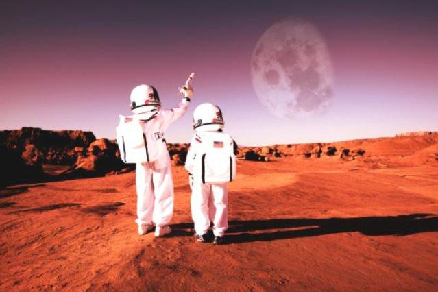 Космонавты на Марсе