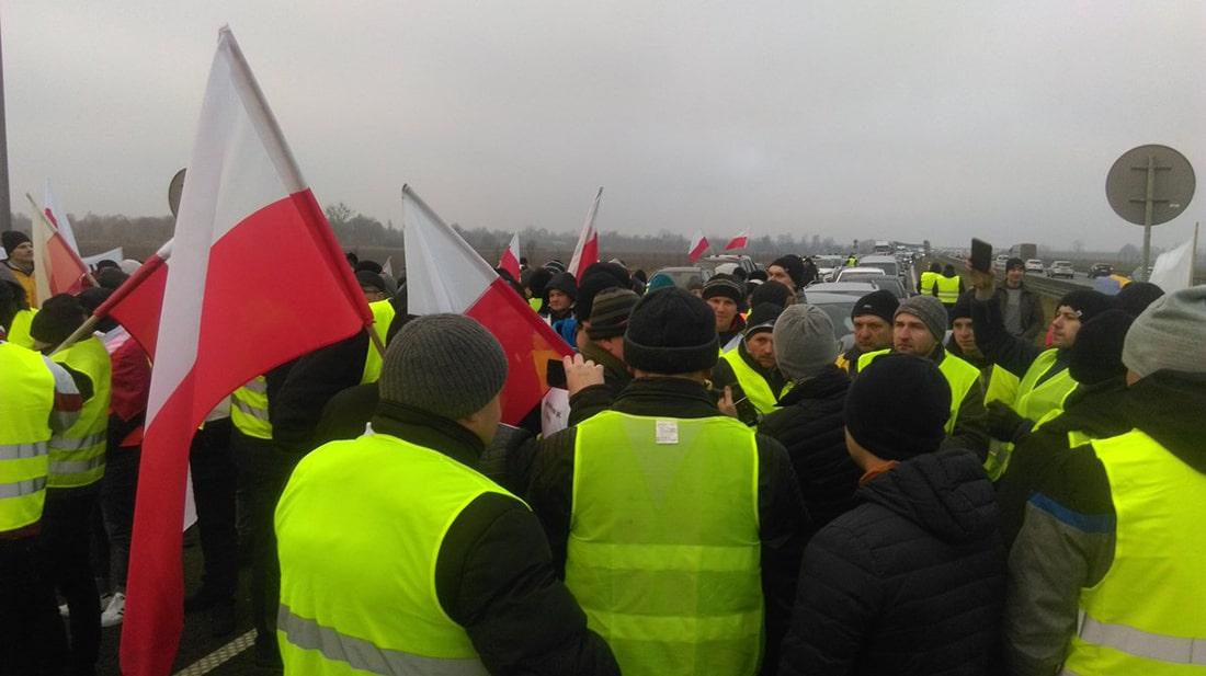 Протесты польских фермеров