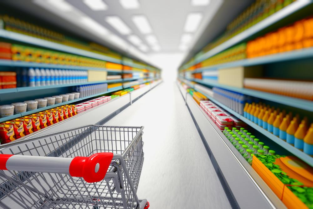 Товары в супермаркете
