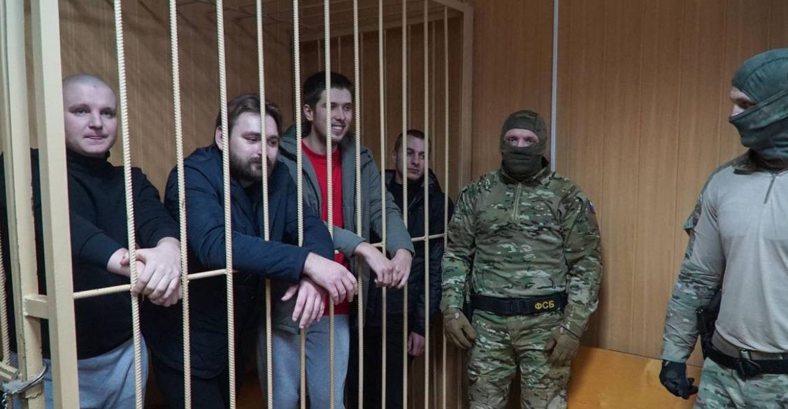 Арестованные моряки
