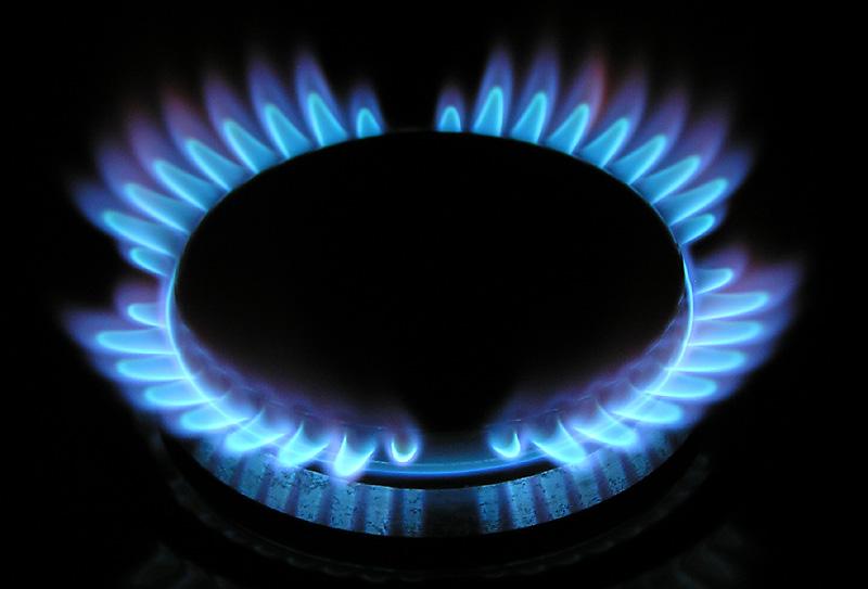 Горящий газ