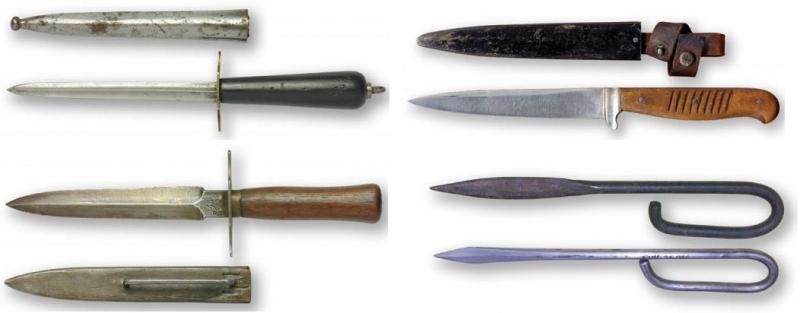 Окопные ножи Первой мировой