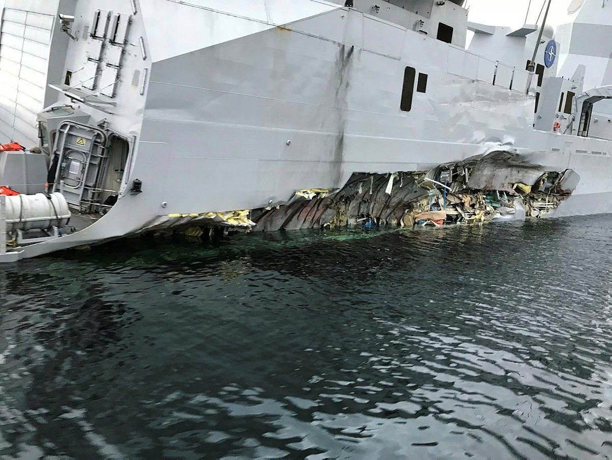 Пострадавший корабль