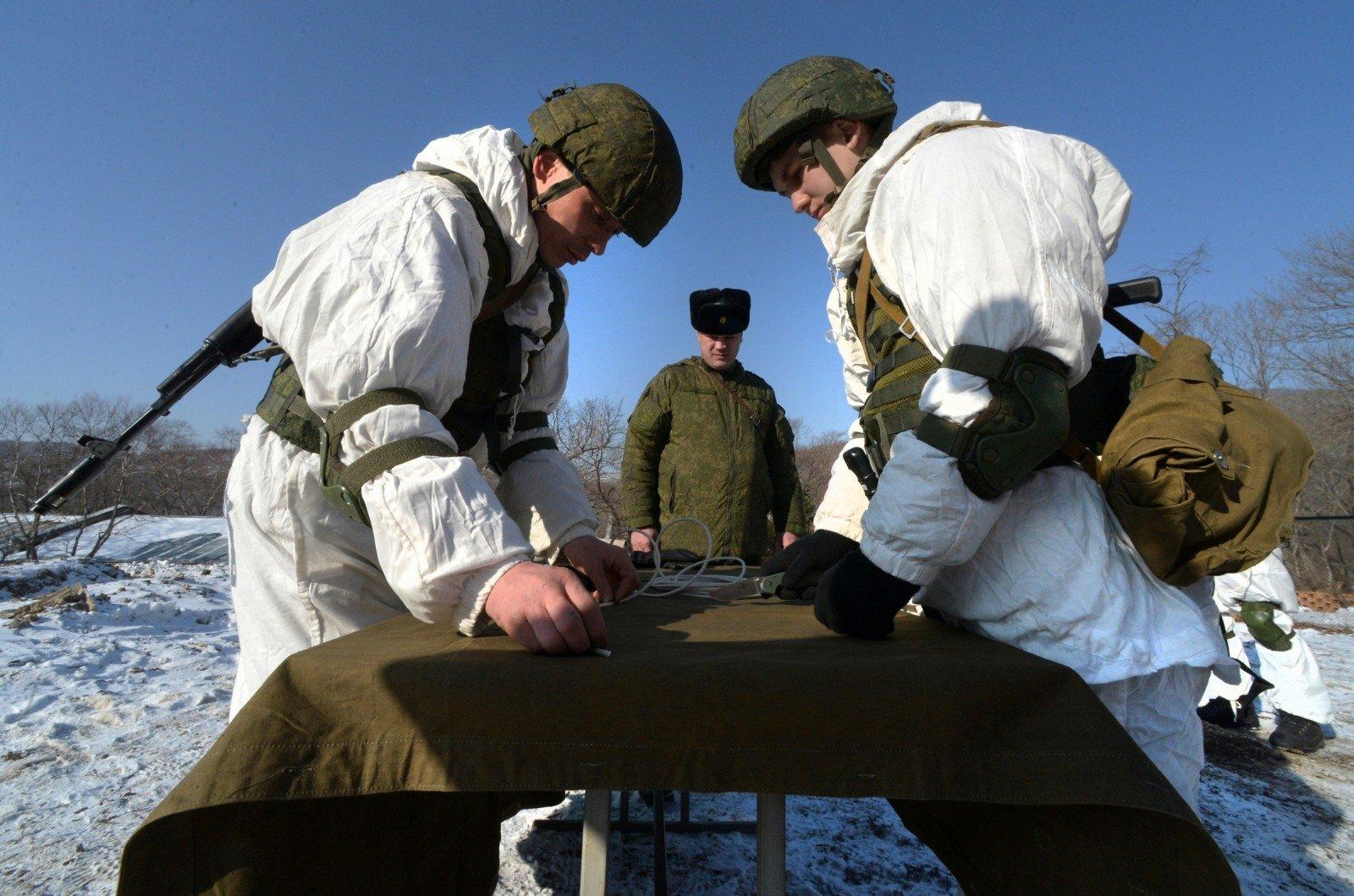 Солдаты на Курилах