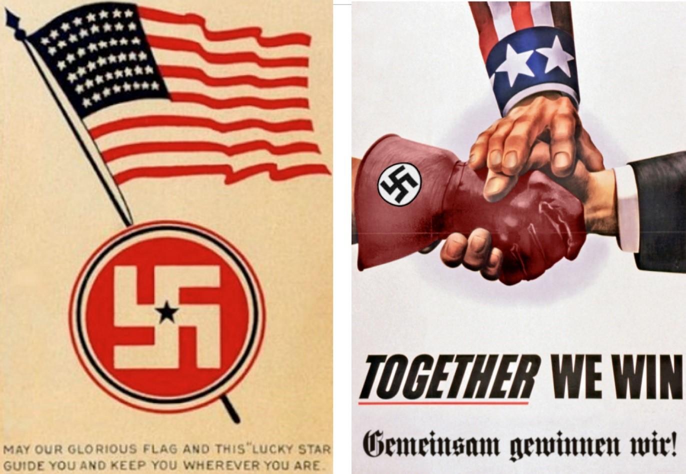 США и Германия на плакатах